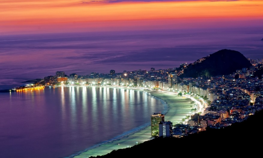 Brazil-Night-View-of-beach